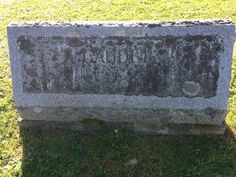 Headstone of Sylvere and Annie Gaudet (Rockwood, Maine)