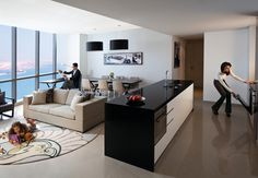 Jumeirah at Etihad Towers, Abu Dhabi - Serviced Residences Living room 3 Bedroom