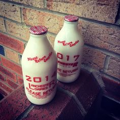 Love my Monday morning milk delivery. Always arrives just in time to save a trip to the shops. #milk #milkdelivery #noplastic #oldschool #supportsmallbusiness