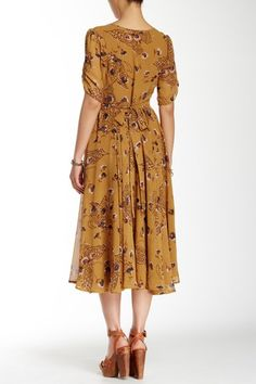 Image of Free People Bonnie Floral Print Dress