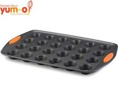 Rachael Ray - Oven Lovin' 24-cup Mini-Muffin Pan... non-stick surface makes incredibly easy to get the muffins out of the tin and is also easy to clean