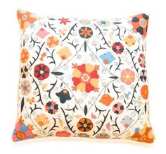 "Kathryn Ireland Pillows Collection  Safi Suzani Indigo Passion 21"" Pillow  manufactured by Kathryn M. Ireland"