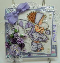 Handmade OOAK Cards by The Hoosier Stamper: Mo's Digital Winter Fairy Talva