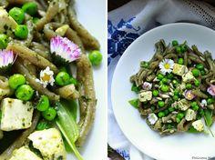 Delicious blog: Těstoviny s mladým ječmenem, bylinkovým tofu a hráškem Delicious Blog, Tofu, Tacos, Mexican, Pasta, Ethnic Recipes, Mexicans, Pasta Recipes, Pasta Dishes