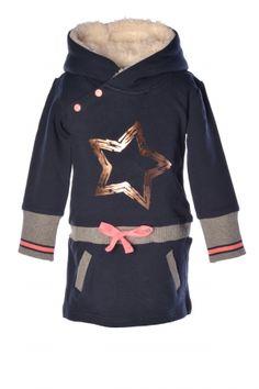Flo Sweat dress with hood bij Ko&Flo Like Flo, Sweat Dress, Sporty Girls, Trendy Kids, Fashion Kids, Baby Kids, Girl Outfits, Navy, Hoodies
