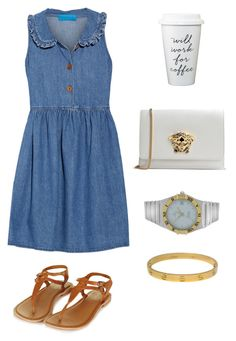 """""""Untitled #61"""" by fatimah42 on Polyvore featuring M.i.h Jeans, Topshop, Versace, OMEGA and Cartier"""
