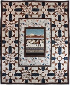 = free pattern = Buckaroo quilt by Heidi Pridemore for Michael Miller Fabrics