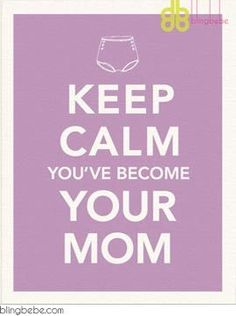 "- Keep Calm You've Become Your Mom - Funny, sarcastic birthday card - Coordinating envelope - Blank inside - Size A2, 4.25"" x 5.5"" - watermark logo on top right corner NOT on card SAVE 25% ::: Mix and"