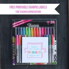 free teacher appreciation sharpie labels