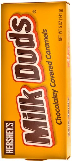 Milk Duds 5 OZ (141g) - just give me some popcorn and milk duds and you can call me at the movies!!