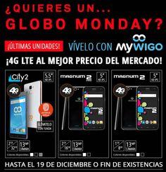 Ampliamos el Globo Monday con las últimas existencias de Mywigo
