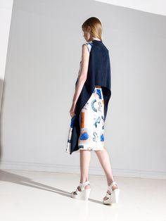Look 5 Danielle Romeril Spring Summer 2013 Midi Skirt, Stylists, Design Inspiration, Sporty, My Style, Zumba, London Fashion, Collection, Wordpress