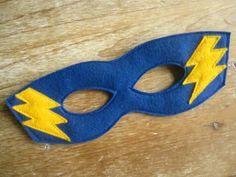 Blue Felt Super Hero Mask by littlebitdesignshop on Etsy, $12.00