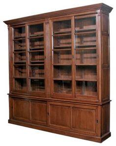 bookcases with glass doors on top and wood doors on bottom door european solid oak - Oak Bookshelves With Glass Doors
