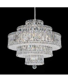 6673 Plaza 21 Inch Single Tier Chandelier - Schonbek crystal chandeliers, tier chandeli, chandeli chic, swarovski crystals