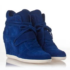 I can't wait to receive these...I have many plans for them...:)  Womens Bowie Wedge Sneaker Cobalt Suede 312153