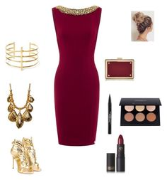 """Untitled #55"" by jahnia3030 ❤ liked on Polyvore featuring Diane Von Furstenberg, Giuseppe Zanotti, BauXo, Lipstick Queen, Trish McEvoy, Anastasia Beverly Hills, Valentino and statementnecklaces"