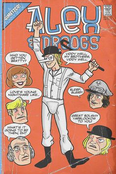 """Alex and Droogs from """"A Clockwork Orange"""" the 1971 Stanley Kubrick film"""