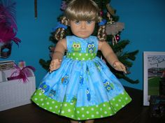 Owls on a Limb Dress for American Girl Doll by renwill22 on Etsy
