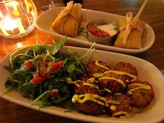 Border Grill Downtown LA - quinoa fritters and green corn tamales