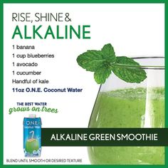 Alkaline Green Smoothie | O.N.E. Coconut Water