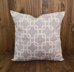 Lilac Squares 16 x 16 Pillow Cover by ParrisChicBoutique on Etsy, $20.00