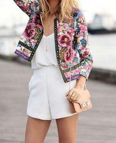 Floral jacket.
