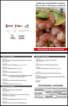 """Xll Muestra Gastronómica Cultural """"Vive el sabor de Escuinapa en Culiacán"""" del 13 al 15 de Noviembre"""