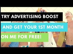 Try Advertising Boost and get your month for Free on me! From now until the end of August I will refund your month payment so you can give it a try! 1 Month, You Got This, Advertising, Youtube, Free, Youtube Movies