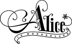 Alice in Wonderland logo design