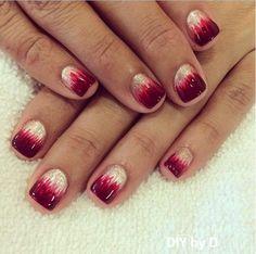 Valentine's day nail designs.