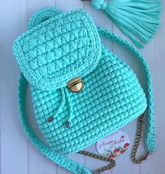 Crotchet Bags Knitted Bags Crochet Backpack Crochet Girls Girls Bags T Shirt Yarn Saddle Bags Fashion Backpack Purses And Bags Crochet Geek, Crochet Girls, Diy Crochet, Crochet Purse Patterns, Crochet Pillow Pattern, Crotchet Bags, Knitted Bags, Crochet Handbags, Crochet Purses