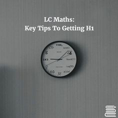 HOW TO GET H1 IN LC MATHS... ... 1 Subscribe now to the ExamLearn YouTube channel for top LC maths videos (we don't cover every topic on it yet but it'll all be done in a few weeks and you'll be notified as we upload more daily!) 2Make the exam papers your best friend. 3(0.5) x (Number of Marks) = Number of Minutes. 4 Go crazy at the front of your exam papers - Write key formulas recurring equations and memory hints for yourself. 5Constantly revise the different sections. 6Watch videos on…