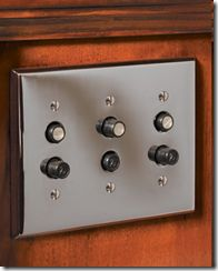 Push button light switches. This type of switch was in the old house I grew up in. It's fun to find them on Pinterest. I hadn't thought about them for a long time.