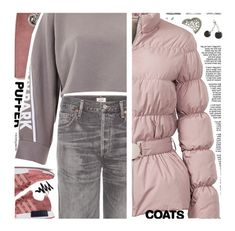 """Puffer Coats"" by deepwinter ❤ liked on Polyvore featuring Yves Saint Laurent, Citizens of Humanity, Elizabeth Roberts, Alexander Wang, Ivy Park, Pearls Before Swine and puffercoats"