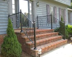 Best Rod Iron Railing For Outside Steps Google Search Wrought Iron Porch Railings Iron Railing 400 x 300