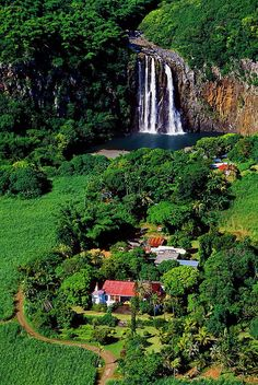 Reunion Island, France/Indian Ocean I want to live by a waterfall! Places Around The World, The Places Youll Go, Places To See, Around The Worlds, Beautiful World, Beautiful Places, Les Cascades, Dream Vacations, Beautiful Landscapes