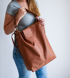 OVERSIZE Brown SHOPPER Bag Large Leather Shopper Light   Etsy Soft Leather Handbags, Leather Bags, Shopper Bag, Tote Bag, Large Bags, Large Tote, Beautiful Bags, Leather Fashion, Leather Shoulder Bag