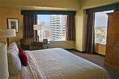 Crown Plaza Hotel, Seattle, WA. Get a high floor and wake up to the Space Needle at your feet. Click, click. There's no place like home.