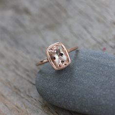 Rose gold and morganite  http://www.etsy.com/listing/79782309/morganite-and-14k-rose-gold-ballerina