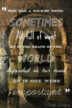 """Quote picture-- from """"The Slow Regard of Silent Things""""  #patrick #rothfuss #kingkiller #chronicles #auri #rothfuss #quotes #beautiful #quotes #book #quotes #slow #regard #of #silent #things"""