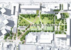 Plan masse du Parc Diderot