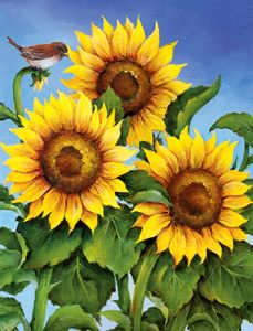 NEW 600 Seasons In Bloom – I Love to Paint by Susan Scheewe Brown - paint and art Watercolor Cards, Watercolor Flowers, Watercolor Paintings, Sunflower Garden, Sunflower Art, Sunflowers And Daisies, Sunflower Pictures, Mother Art, Sunflower Wallpaper