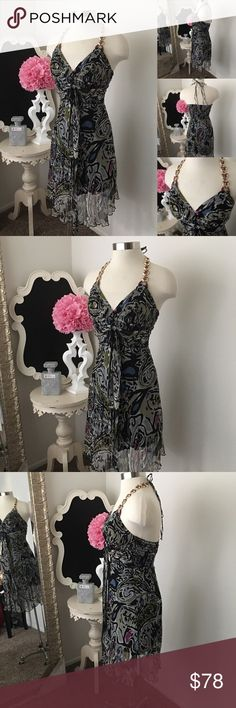 🌺 Marisa K  Black Print Chiffon Silk Dress 🌺 Marisa K  MKC - Marisa Kenson Collection  Gorgeous Black Print Chiffon Silk Dress - Embellished Halter Style - Front Silk Waist Tie Back Stretch  - Dress is Lined  $89 New  Fabric : 100% Silk  🌺 Accessories Not Included But Are also for Sale  Please Check out my Other Items in my GIRLe B Posh Shoppe'  Like us on FB   www.facebook.com/girleboutique Thanks For Looking & Always Let your Clothes get All the Attention 💋 ❌⭕️, Christina GIRLe…