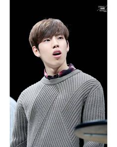 Dongwoo looks so cute in that hair cut and sweater^^ Dong Woo, Myungsoo, One And Only, Infinite, Hair Cuts, Kpop, Instagram Posts, Cute, Smile