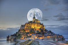 Mont Saint Michel in Normandy, France.   Gorgeous perspective!