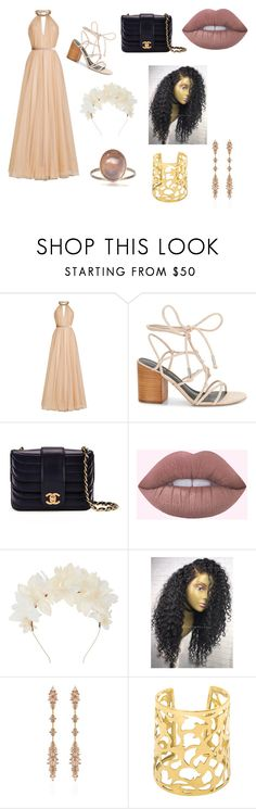 """Prom day Colab pt 1"" by jazzy-art ❤ liked on Polyvore featuring Jenny Packham, Rebecca Minkoff, Chanel, Lizzie Fortunato and Fernando Jorge"