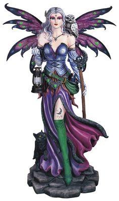 Fairy, Purple with Lantern 52 high