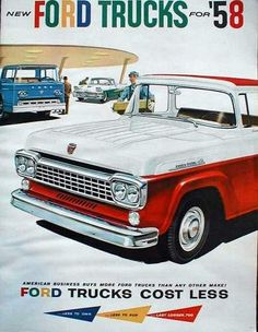 Old car and truck advertisement brochures, The Ford 1957 to 1970