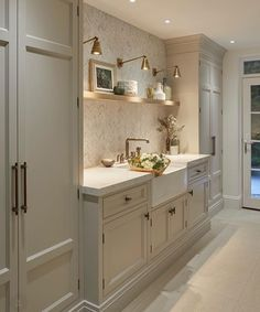 Cabinet style and color for laundry room
